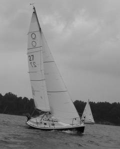 Racing on Clinton Lake