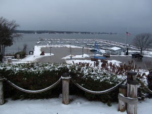 Looking west at the marina from Harbor View Park.